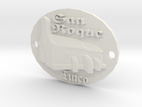 Llaveros personalizados / Keychains  in White Natural Versatile Plastic: Small