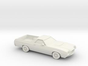1/64 1972 Ford Ranchero in White Natural Versatile Plastic