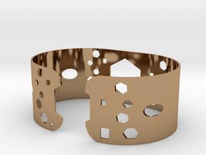 Geometric bracelet in Polished Brass