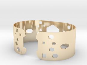 Geometric bracelet in 14k Gold Plated Brass