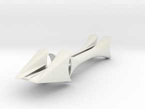 Mr. B 4.375 w: front fenders in White Natural Versatile Plastic