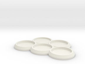 5 25mm round movement tray  in White Strong & Flexible