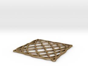 Lissajous Coaster 5:6 pi/2 in Polished Gold Steel