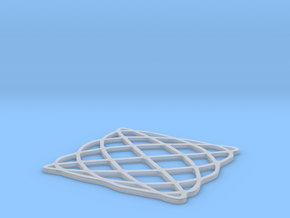 Lissajous coaster 4:5 pi/2 in Smooth Fine Detail Plastic