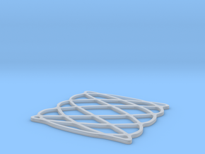 Lissajous coaster 3:5 pi/2 in Smooth Fine Detail Plastic