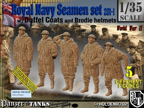1/35 Royal Navy Duffel Coat Set201-1 in Smooth Fine Detail Plastic