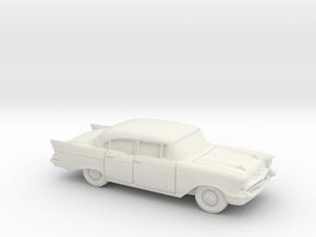 1/87 1957 Chevrolet One Fifty Sedan in White Natural Versatile Plastic