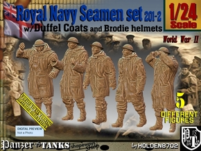 1/24 Royal Navy Duffel Coat Set201-2 in White Natural Versatile Plastic