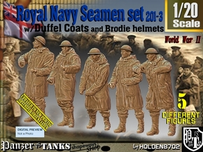 1/20 Royal Navy Duffel Coat Set201-3 in White Natural Versatile Plastic