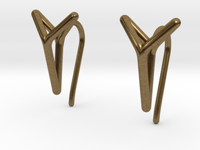 YOUNIVERSAL One Earrings in Natural Bronze: Extra Small