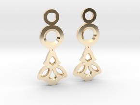 Little Flowers. Earrings in 14k Gold Plated Brass
