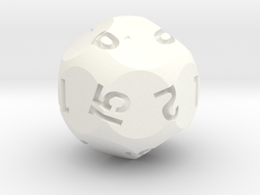 d15 Sphere Dice Alt in White Strong & Flexible Polished