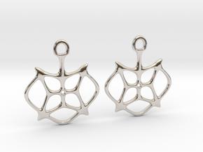 """Stars"" Earrings in Rhodium Plated Brass"