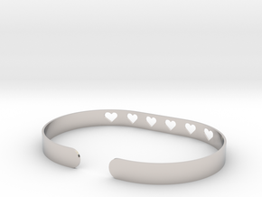 Heart Bracelet in Platinum