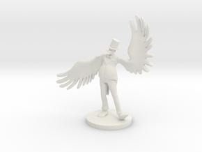 Fat Bird Salesman in White Natural Versatile Plastic