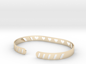 Sleek Heart Bracelet in 14K Yellow Gold