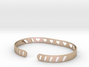 Sleek Heart Bracelet in 14k Rose Gold Plated Brass