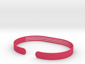 Front Stripe Extended Bracelet in Pink Processed Versatile Plastic