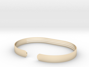 Front Stripe Extended Bracelet in 14K Yellow Gold