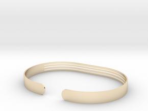 Front Stripe Extended Bracelet in 14k Gold Plated Brass