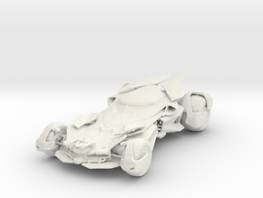 1/43 Batmobile in White Natural Versatile Plastic