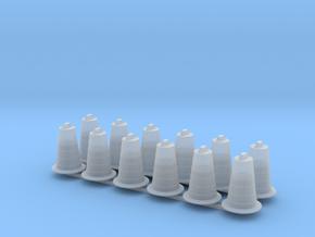 Commander Traffic Barrel Drum w/Base (12) in Smooth Fine Detail Plastic