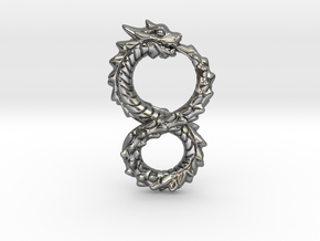 Ouroboros Dragon from Altered Carbon in Polished Silver