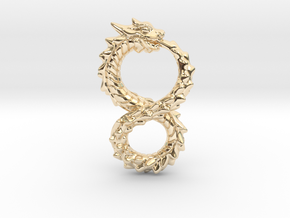 Ouroboros Dragon from Altered Carbon in 14k Gold Plated Brass