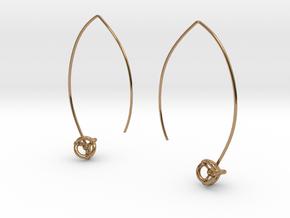 Universe Earrings in Polished Brass