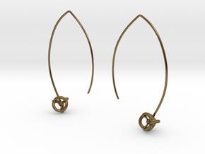 Universe Earrings in Polished Bronze