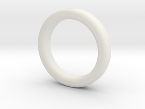 Weight ring for the chodeleri begleri bead in White Natural Versatile Plastic: Medium