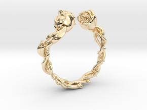 Roses Ring in 14K Yellow Gold: 5 / 49