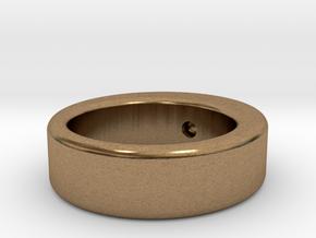 rollerball in Natural Brass (Interlocking Parts)