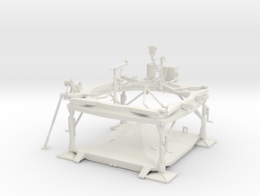 Rocket V-2 Launch Table (Abschlussplatform) 1/25 in White Natural Versatile Plastic