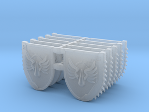 Mixed Chainshields (Flying Tear design) in Smooth Fine Detail Plastic: Large