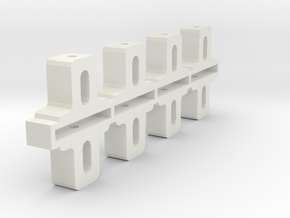 Front Adjustable Axle blocks in White Strong & Flexible