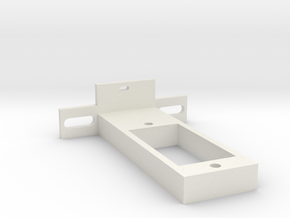 rc-servo mounting kit (for Reely S-0008) in White Natural Versatile Plastic
