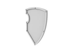 Superior shield - Plain in Smoothest Fine Detail Plastic