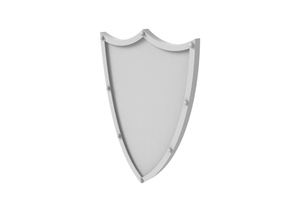 Tower Shield in Smoothest Fine Detail Plastic