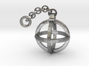 Orion's Pendant  in Interlocking Raw Silver