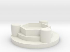 Setup Wheel Hub - 12mm hex hub normal length axle in White Natural Versatile Plastic
