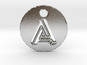 "initial ""A"" pendant in Natural Silver"