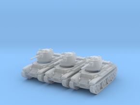 1/160 BT-7 tanks in Smooth Fine Detail Plastic