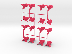 Tiny Rocket 16 Pack in Pink Processed Versatile Plastic