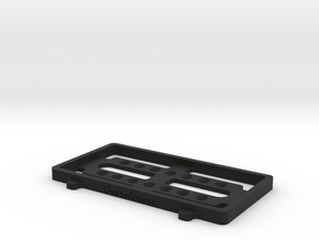 SHORTY SIZE BATTERY TRAY (For Weight Shift Frame) in Black Natural Versatile Plastic