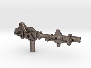 Metalhawk / Vector Prime Gun (3mm, 5mm) in Polished Bronzed Silver Steel: Small