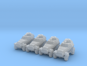 6mm BA-64 armored cars (4) in Smoothest Fine Detail Plastic