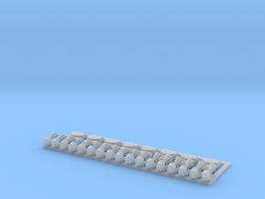 8 Alarmglocken und 17 Signalhörner in Smooth Fine Detail Plastic