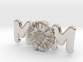 Daisy Mom Pendant in Platinum: Extra Small