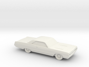 1/24 1970 Plymouth Fury Coupe in White Natural Versatile Plastic